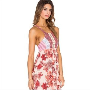 NWOT Maaji Floral Cross Back Maxi Dress